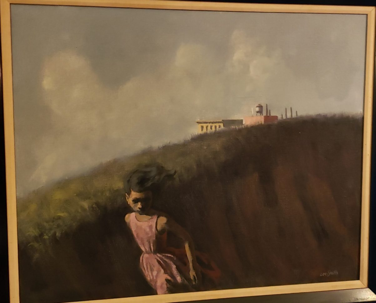 This painting by Hughie Lee Smith is part of the eclectic, international collection of attorney Jerome Watson and Judge Deborah Geraldine Bledsoe Ford.